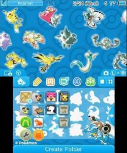 Tema New 3DS Pokémon 20 Azul
