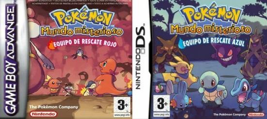 Pokémon Mundo Misterioso: Equipo de rescate azul/rojo