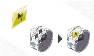 Pulsera Z y Cristal Z de tipo eléctrico.